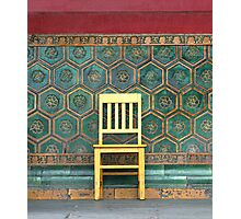 Yellow Chair at the Imperial Palace Photographic Print