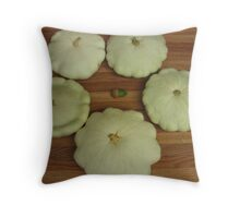 The Patty Pan Squash And The Acorn Throw Pillow