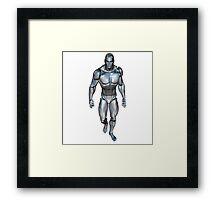 Robotic man walking Framed Print