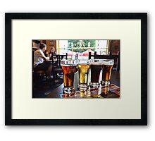 Beer Sampling Framed Print