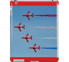 The Red Arrows sideways on iPad Case/Skin