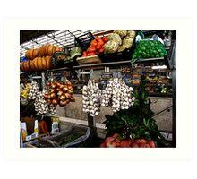 Farmers Market Portugal Art Print