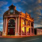 York Town Hall at sunset by BigAndRed