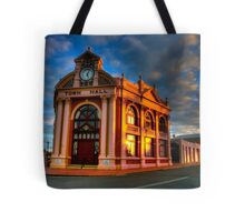 York Town Hall at sunset Tote Bag
