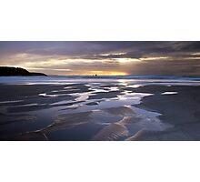 Sunset at Perranporth Beach Photographic Print