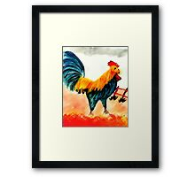 King of the yard #3, watercolor Framed Print