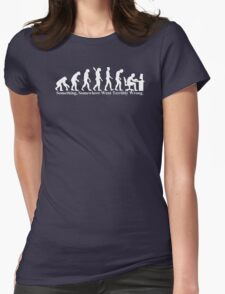 Something, Somewhere Went Terribly Wrong T-shirt Funny Evolution Geek Humor Womens Fitted T-Shirt