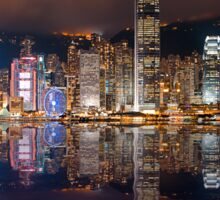 Skyline of Hong Kong 2015 Sticker