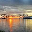 Queen Mary in the Forth by Chris Cherry