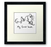 My first kiss Framed Print