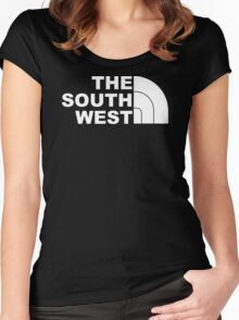 THE SOUTH WEST, NEW FUNNY T SHIRT, GIFT, FRUIT OF THE LOOM, S,M,L,XL Women's Fitted Scoop T-Shirt