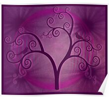 Purple Swirly Tree Poster