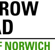 Carrow Road Norwich Street Sign Sticker