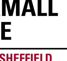 Bramall Lane Sheffield Road Sign Sticker