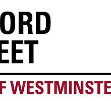 Oxford Street London Road Sign by ukedward