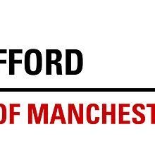 Old Trafford Manchester Road Sign by ukedward