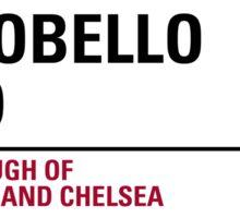 Portobello Road London Road Sign Sticker