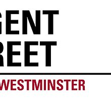 Regent Street London Road Sign by ukedward