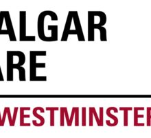 Trafalgar Square London Road Sign Sticker