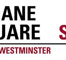 Sloane Square London Road Sign by ukedward