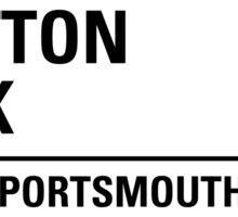 Fratton Park Portsmouth Road Sign Die Cut Sticker Sticker