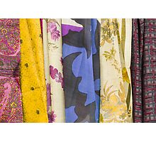 colored fabrics Photographic Print