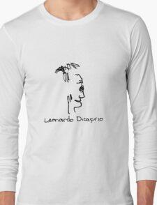A portrait of Leonardo Dicaprio Long Sleeve T-Shirt