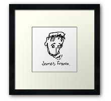 A portrait of James Franco Framed Print