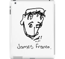 A portrait of James Franco iPad Case/Skin