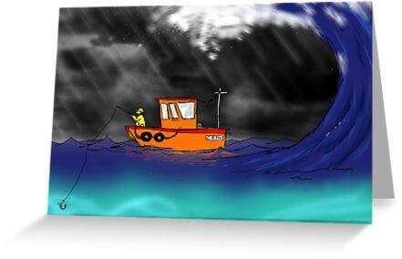 Unlucky Cornish fisherman  by aaronnaps