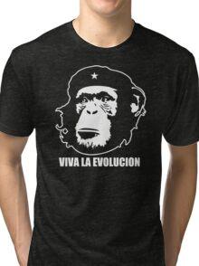 VIVA LA EVOLUCION - Evolution - Funny T-Shirt - Che Guervara Monkey S - XXXL Tri-blend T-Shirt