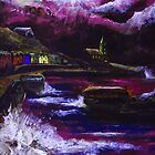 Painting of porthleven during a storm by aaronnaps