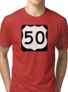 Route 50 Sign Tri-blend T-Shirt