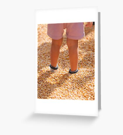 children playing with corn Greeting Card