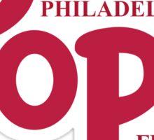 Pope Phillies Logo Mash Up Sticker