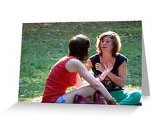 chatting- thoroughly released Greeting Card