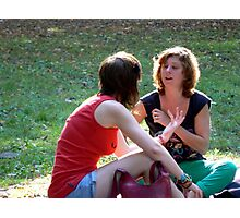 chatting- thoroughly released Photographic Print