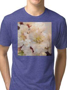 Beautiful blossoms on white Tri-blend T-Shirt