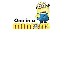 AVAILABLE SIZES S TO XXL, ONE IN A MINION! Mens funny t-shirt Photographic Print