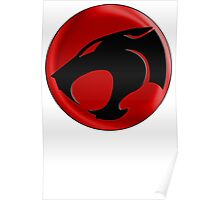 AVAILABLE SIZES S TO XXL, THUNDERCATS (BLACK)! Mens funny t-shirt Poster