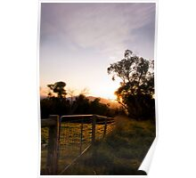 'The View' - Gate at Sunrise Poster