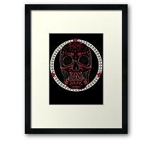 Crimson Calavera Framed Print