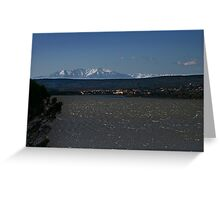 Freezing Febuary in France Greeting Card