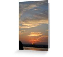 Sun Set Over Point Judith Greeting Card