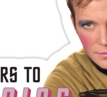 Set Phasers To Stunning Kirk Sticker