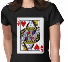 Queen Of Heart  Womens Fitted T-Shirt