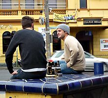 Who needs a pub, when you've got a street corner? by Karen Tregoning