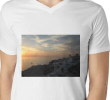 Santorini, Greek Islands Mens V-Neck T-Shirt
