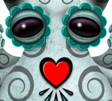 Blue Day of the Dead Sugar Skull Baby Octopus Sticker