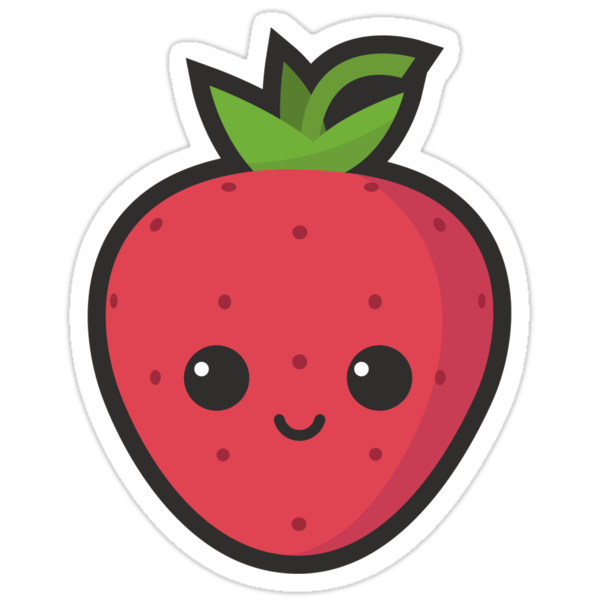 Quot Cute Strawberry Quot Stickers By Cute Recipes Redbubble